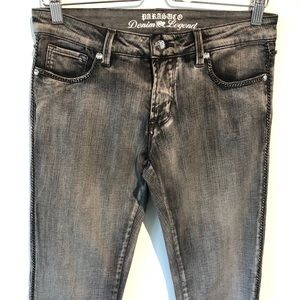 Parasuco | gray washed out distressed chain jeans